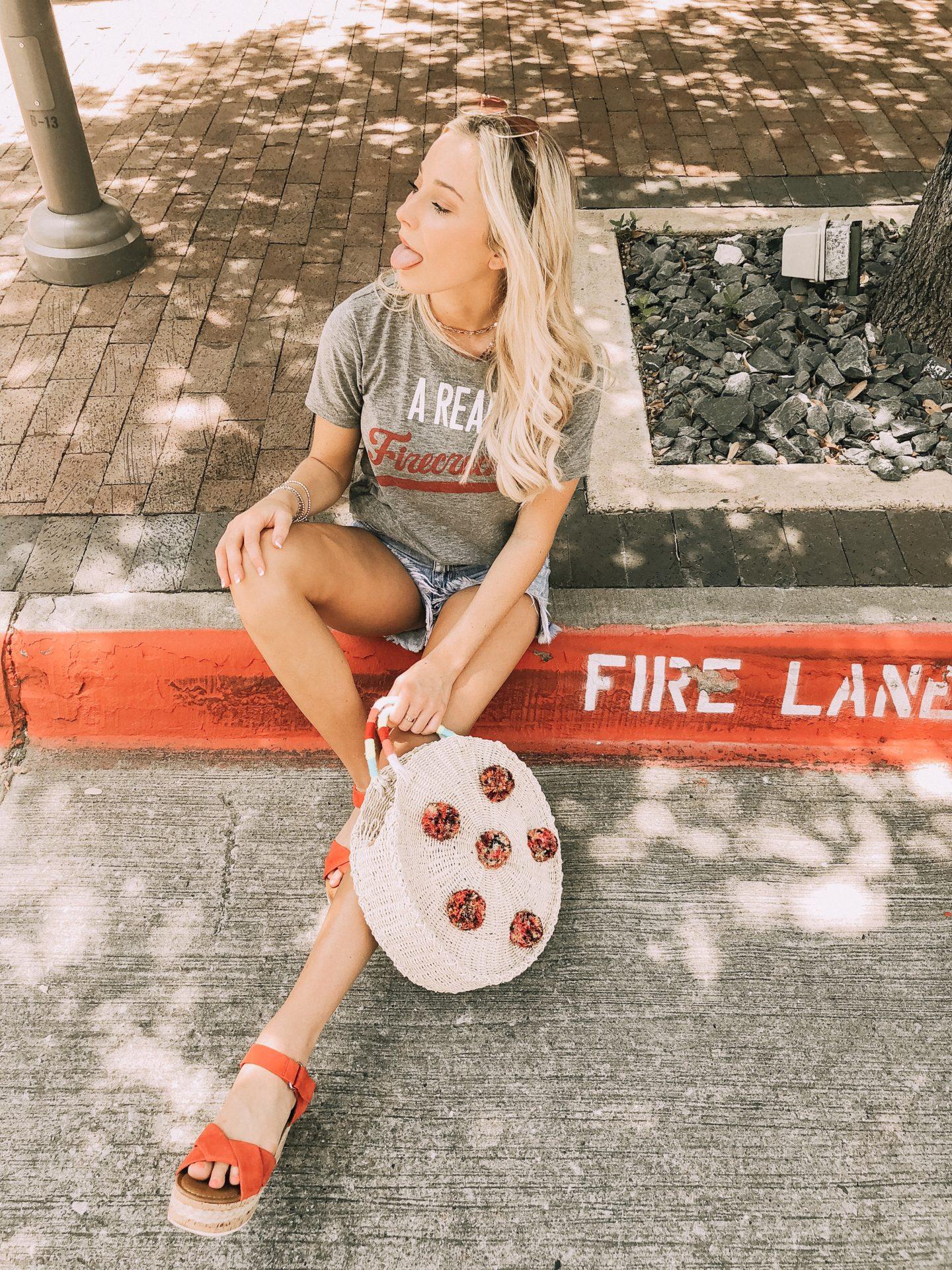 Firecracker Shirt - Dallas Fashion Model, Fashion & Lifestyle Blogger - Peyton Mabry