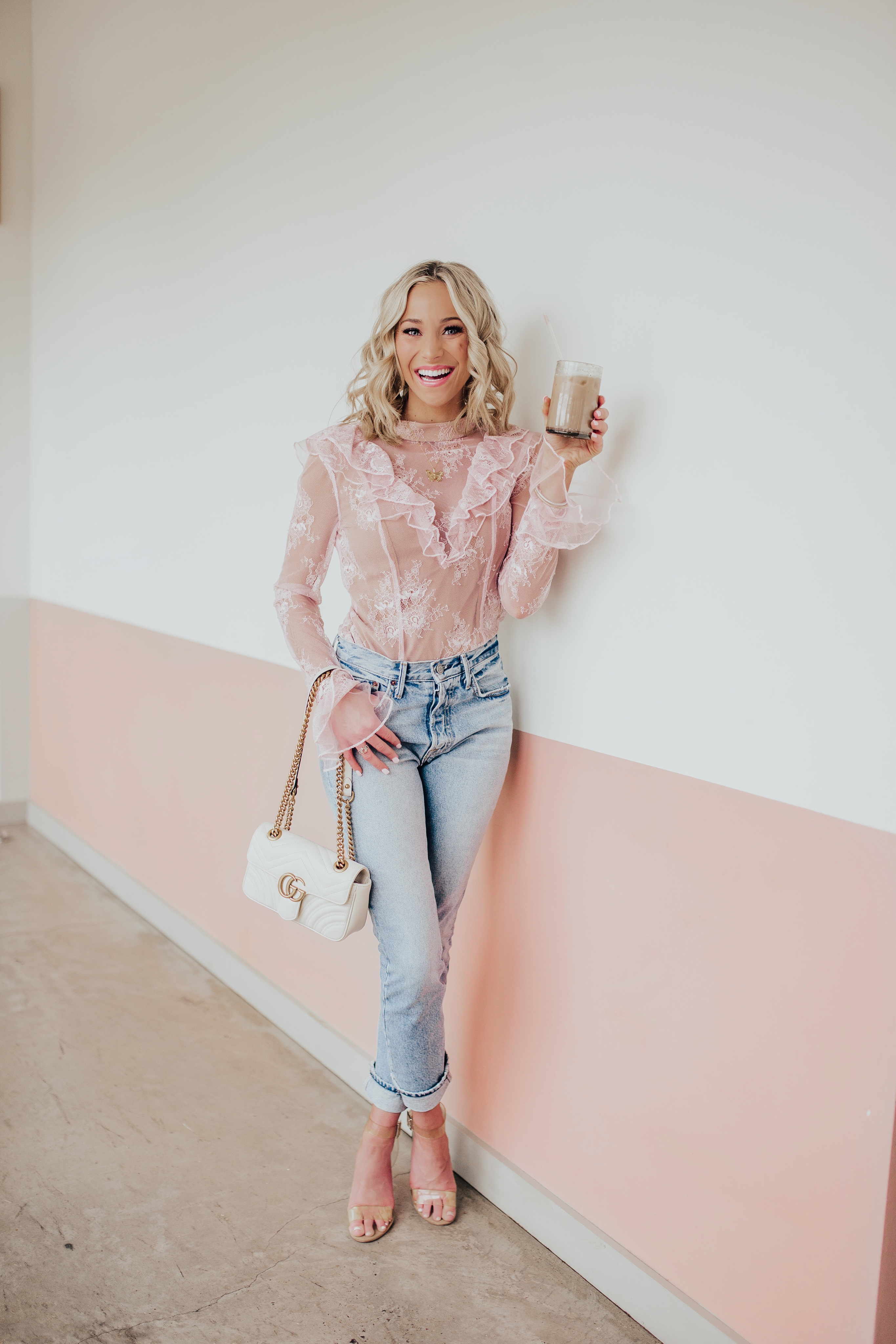 Revolve - MAJORELLE Zamora Top in Blush Pink 4